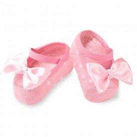 sapatilha sapameia festa rosa poa para bebe antiderrrapante m1520 654 10064