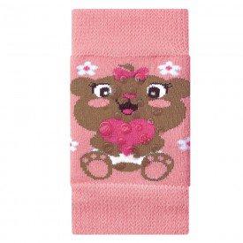 joelheira antiderrapante rosa ursinho para bebe engatinhar m1890 272 10065