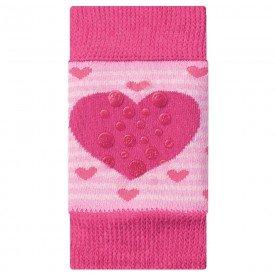 joelheira antiderrapante coracao pink para bebe engatinhar m1890 273 10066