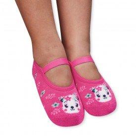 sapatilha sapameia infantil antiderrapante ursinho pink m1291 92 93 290 10084