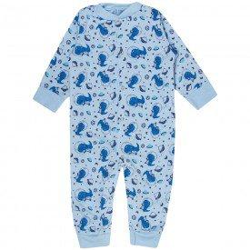 macacao bebe masculino dino moletinho azul kw704 10049