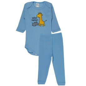 conjunto body e calca wild safari azul bebe 114 115 116 10114