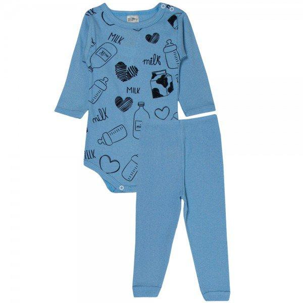 conjunto body e calca milk azul bebe 114 115 116 10111