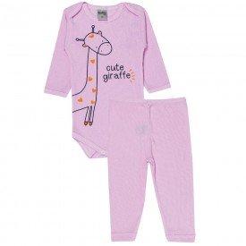 conjunto body e calca cute giraffe rosa bebe 114 115 116 10121