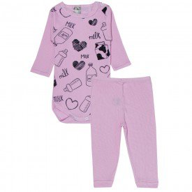 conjunto body e calca milk rosa bebe 114 115 116 10112