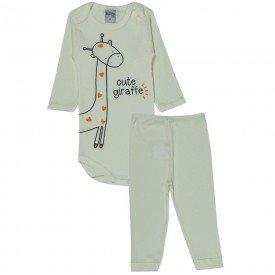 conjunto body e calca cute giraffe perola 114 115 116 10120