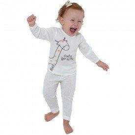 conjunto blusa e calca cute giraffe unissex branco 123 124 10126 1