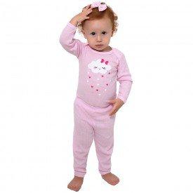 conjunto body e calca chuva de amor rosa bebe 114 115 116 10124 1