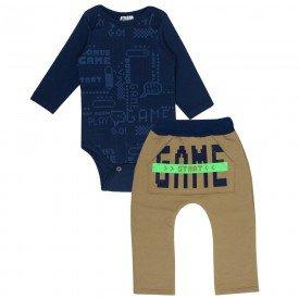 conjunto bebe masculino body game e calca saruel marinhocaramelo 340 9732 2