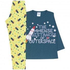 pijama infantil menino foguete petroleo amarelo 356 10136