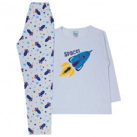 pijama infantil menino space branco 361 10139