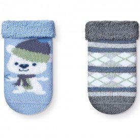 kit 2 pares meias soquete soft recem nascido menino t2084 15 10062