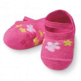 sapatilha sapameia bebe antiderrapante pink m1290 257 10072