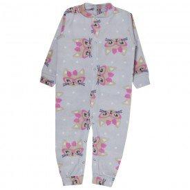 macacao infantil feminino gatinha soft rosa kw307 10053