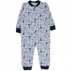 macacao infantil masculino moletinho astronauta branco azul kw706 9991