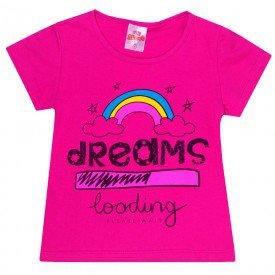 blusa infantil feminina dreams pink 1400 10195