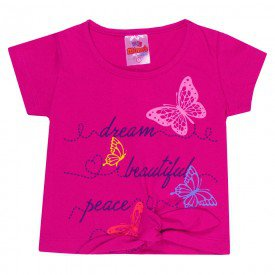 blusa infantil menina amarrar pink 1302 10176
