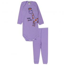 conjunto body e calca girafa lilas 115 116 10119a