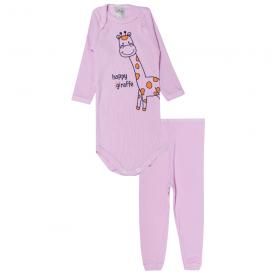 conjunto body e calca girafa rosa 115 116 10118a