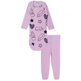 conjunto body e calca milk rosa 115 116 10112a