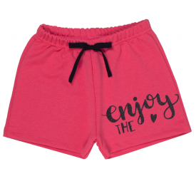 short infantil menina rosa neon enjoy 1802 10203