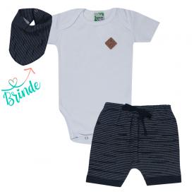 conjunto body branco e shorts saruel preto bandana de brinde 1787 10157