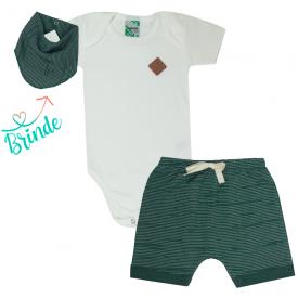 conjunto body off white e shorts saruel verde bandana de brinde 1788 1015858