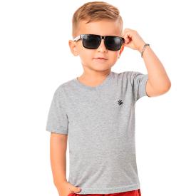 camiseta infantil menino gola v mescla 22151 42166 10341