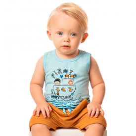 conjunto bebe menino regata pirata azul fendi 80107 10318