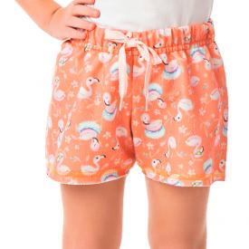 short infantil feminino moletinho flamingos salmao 1174 10309