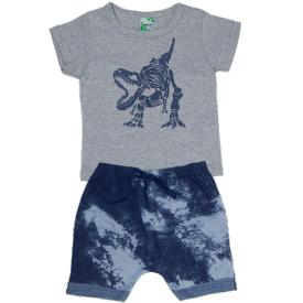 conjunto verao infantil camiseta mescla saruel marmorizada 1807 10165