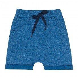 bermuda infantil masculina saruel moletinho azul 2186 10335