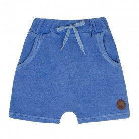 bermuda infantil masculina saruel moletinho azul 2188 10339