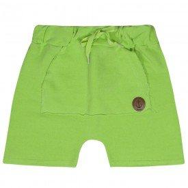 bermuda infantil masculina saruel moletinho estonado verde 4186 10343