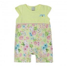 macaquinho bebe menina amarelo floral 7343 10305