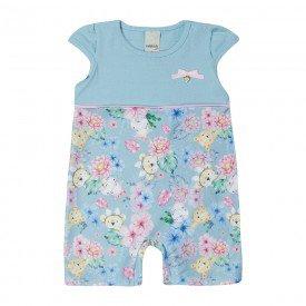 macaquinho bebe menina azul floral 7343 10306