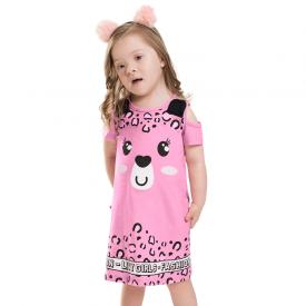 vestido infantil fashion pink 7158 10255