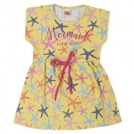 vestido infantil estrela do mar amarelo 7159 10257