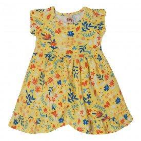 vestido infantil floral amarelo 7157 10254