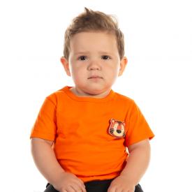 camiseta bebe menino tigre laranja 12170 10391