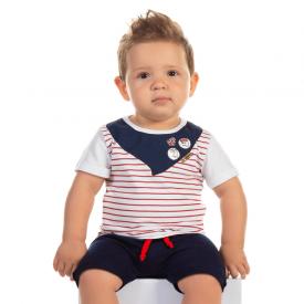 conjunto bebe menino pirata branco e marinho 12179 10396