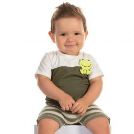 conjunto bebe menino sapinho marfim e verde 12182 10400