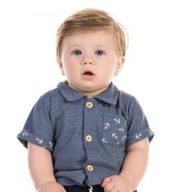 camisa em piquet mouline azul 12180 10398
