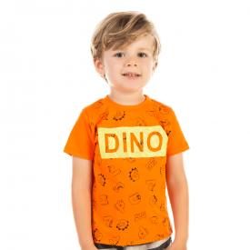 camiseta dino laranja 12194 10412