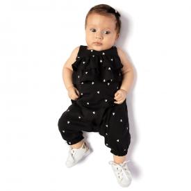 macacao bebe preto poa coracao 0121 10714