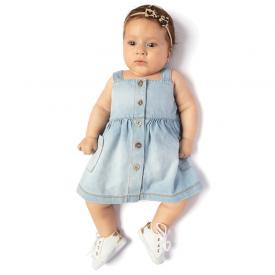 vestido bebe chambray claro 0122 10715