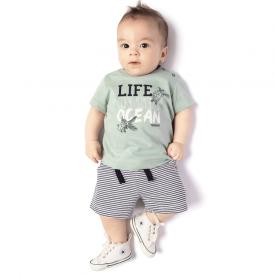 conjunto bebe masculino camiseta turmalina e bermuda listrada 4118 10682