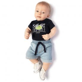 conjunto body safari marinho e bermuda jeans confort 4125 10690