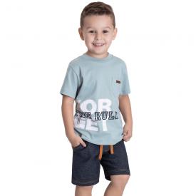 conjunto infantil masculino camiseta turmalina e bermuda sarja 5375 10699
