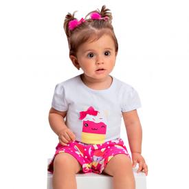 onjunto bebe menina picole branco pink 1370 10431